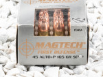Magtech - Solid Copper Hollow Point - 165 Grain 45 ACP Ammo - 20 Rounds