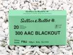 Sellier & Bellot Full Metal Jacket (FMJ) 124 Grain 300 AAC Blackout  Ammo - 20 Rounds