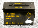 Malaysian Surplus Military Can - Full Metal Jacket - 146 Grain 7.62x51mm NATO Ammo - 540 Rounds