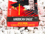 Federal American Eagle Full Metal Jacket Boat Tail (FMJ-BT) 55 Grain 223 Remington  Ammo - 500  Rounds