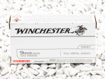 Winchester Full Metal Jacket (FMJ) 124 Grain 9mm Luger (9x19)  Ammo - 500  Rounds