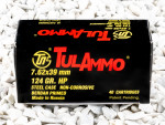 Tula Cartridge Works Hollow-Point (HP) 124 Grain 7.62X39  Ammo - 40 Rounds