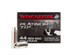 Winchester Platinum Tip Jacketed Hollow-Point (JHP) 250 Grain 44 Magnum  Ammo - 20 Rounds