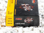 PMC X-Tac Full Metal Jacket Boat Tail (FMJ-BT) 147 Grain 308 Winchester  (7.62X51)  Ammo - 20 Rounds