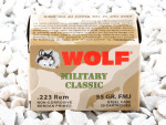 Wolf - Full Metal Jacket - 55 Grain 223 Rem Ammo - 500 Rounds