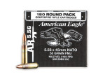 Federal American Eagle Full Metal Jacket (FMJ)  55 Grain 5.56x45mm  Ammo - 150 Rounds
