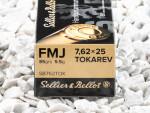 Sellier & Bellot - Full Metal Jacket - 85 Grain 7.62mm Tokarev Ammo - 50 Rounds