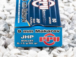 Prvi Partizan - Jacketed Hollow Point - 95 Grain 9mm Makarov Ammo - 50 Rounds