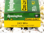Remington - Core Lokt Pointed Soft Point - 100 Grain 243 Winchester Ammo - 20 Rounds