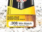 Black Hills Gold Ammunition TSX 168 Grain 308 Winchester (7.62X51) Ammo - 20 Rounds