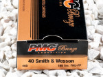 PMC - Full Metal Jacket - 165 Grain 40 Smith & Wesson Ammo - 1000 Rounds