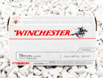 Winchester Full Metal Jacket (FMJ) 115 Grain 9mm Luger (9x19)  Ammo - 500  Rounds