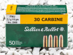 Sellier & Bellot - Full Metal Jacket - 110 Grain 30 Carbine Ammo - 1000 Rounds