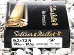 Sellier & Bellot - Soft Point - 193 Grain 9.3x72 Ammo - 20 Rounds