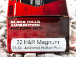 Black Hills Ammunition - Jacketed Hollow Point - 85 Grain 32 H&R Magnum Ammo - 50 Rounds