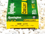 Remington - Core Lokt Pointed Soft Point - 180 Grain 308 Winchester  Ammo - 20 Rounds