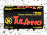 Tula Cartridge Works Full Metal Jacket (FMJ) 115 Grain 9mm Luger (9x19)  Ammo - 1000 Rounds
