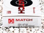 Hornady ELD-Match 285 Grain 338 Lapua Magnum  Ammo - 20 Rounds