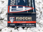 Fiocchi Full Metal Jacket (FMJ) 124 Grain 9mm Luger (9x19)  Ammo - 50 Rounds