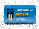 Prvi Partizan - Semi Jacketed Hollow Point - 158 Grain 357 Magnum Ammo - 50 Rounds
