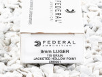 Federal XM9001 Jacketed Hollow-Point (JHP) 115 Grain 9mm Luger (9x19) Ammo - 50 Rounds