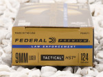 Federal - HST Jacketed Hollow Point - 124 Grain 9mm Ammo - 50 Rounds