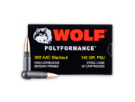 Wolf - Full Metal Jacket - 145 Grain 300 AAC Blackout Ammo - 500 Rounds