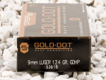 Speer - Gold Dot Jacketed Hollow Point - 124 Grain 9mm Ammo - 50 Rounds