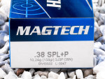 Magtech - Semi Jacketed Soft Point - 158 Grain 38 Special +P Ammo - 50 Rounds