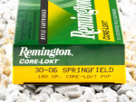 Remington - Core Lokt Pointed Soft Point - 180 Grain 30-06 Ammo - 20 Rounds