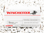 Winchester USA - Jacketed Hollow Point - 115 Grain 9mm Luger (9x19) Ammo - 500 Rounds