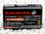 Winchester - Polymer Tipped - 20 Grain 17 Winchester Super Mag Ammo - 50 Rounds