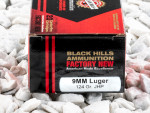 Black Hills Ammunition Jacketed Hollow-Point (JHP) 124 Grain 9mm Luger (9x19)  Ammo - 20 Rounds