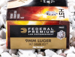 Federal - HST Jacketed Hollow Point - 147 Grain 9mm Ammo - 50 Rounds