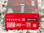 9mm - 124 Grain FMJ - Federal American Eagle - 50 Rounds