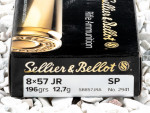 Sellier & Bellot - Soft Point - 196 Grain 8mm Mauser Ammo - 20 Rounds