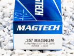 Magtech - Semi Jacketed Soft Point - 158 Grain 357 Magnum Nickle Plated Ammo - 50 Rounds