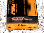 PMC - Full Metal Jacket - 230 Grain 45 ACP Ammo - 50 Rounds