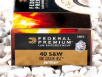 Federal - HST Jacketed Hollow Point - 180 Grain 40 S&W Ammo - 50 Rounds
