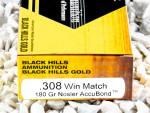 Black Hills Gold Ammunition Polymer Tipped 180 Grain 308 Winchester (7.62X51) Ammo - 20 Rounds