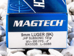 Magtech - Jacketed Hollow Point - 147 Grain 9mm Luger Ammo - 50 Rounds