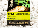 Sellier & Bellot - Total Metal Jacket - 158 Grain 38 Special Ammo - 50 Rounds