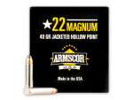 Armscor - Jacketed Hollow Point - 40 Grain 22 Magnum Ammo - 500 Rounds