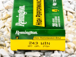 Remington - Soft Point - 80 Grain 243 Winchester Ammo - 20 Rounds
