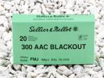 300 AAC Blackout - 124 Grain FMJ - Sellier & Bellot - 500 Rounds