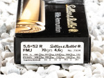 Sellier & Bellot - Full Metal Jacket - 70 Grain 5.6x52mm Rimmed Ammo - 20 Rounds