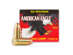 Federal American Eagle Full Metal Jacket (FMJ) 115 Grain 9mm Luger (9x19)  Ammo - 50 Rounds
