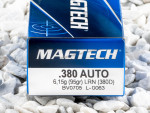 Magtech - Lead Round Nose - 95 Grain 380 Auto Ammo - 50 Rounds