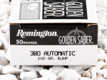 Remington - Brass Jacketed Hollow Point - 102 Grain 380 Auto Ammo - 50 Rounds