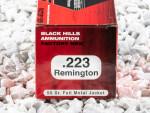 Black Hills Ammunition Full Metal Jacket (FMJ) 55 Grain 223 Remington Ammo - 50 Rounds
